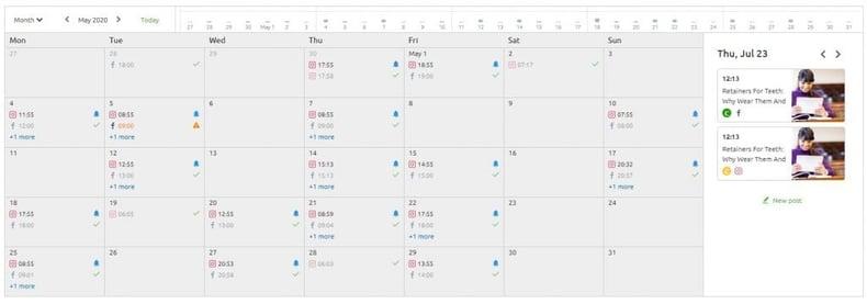 Social Media Post Calendar