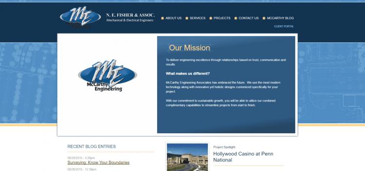 McCarthy Engineering's Previous Homepage