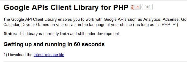 Google Client Library