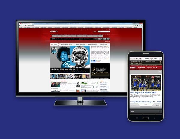 Websites designed for mobile devices.