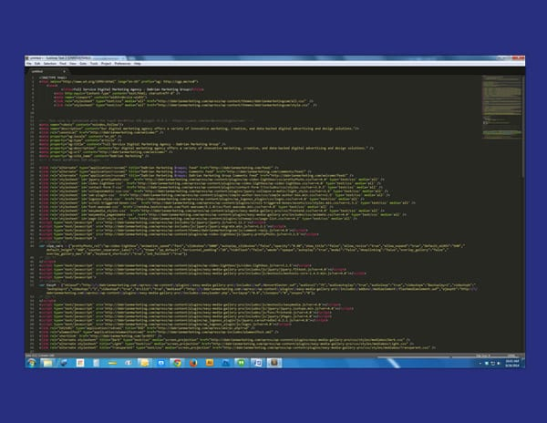 Analyzing code using a text editor.