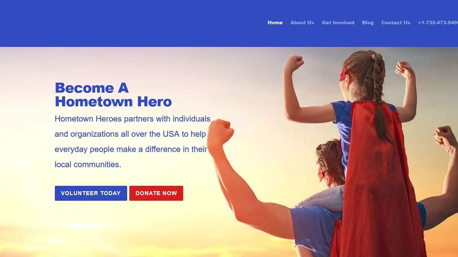 DaBrian Marketing Redesigns Hometown Heroes' Website