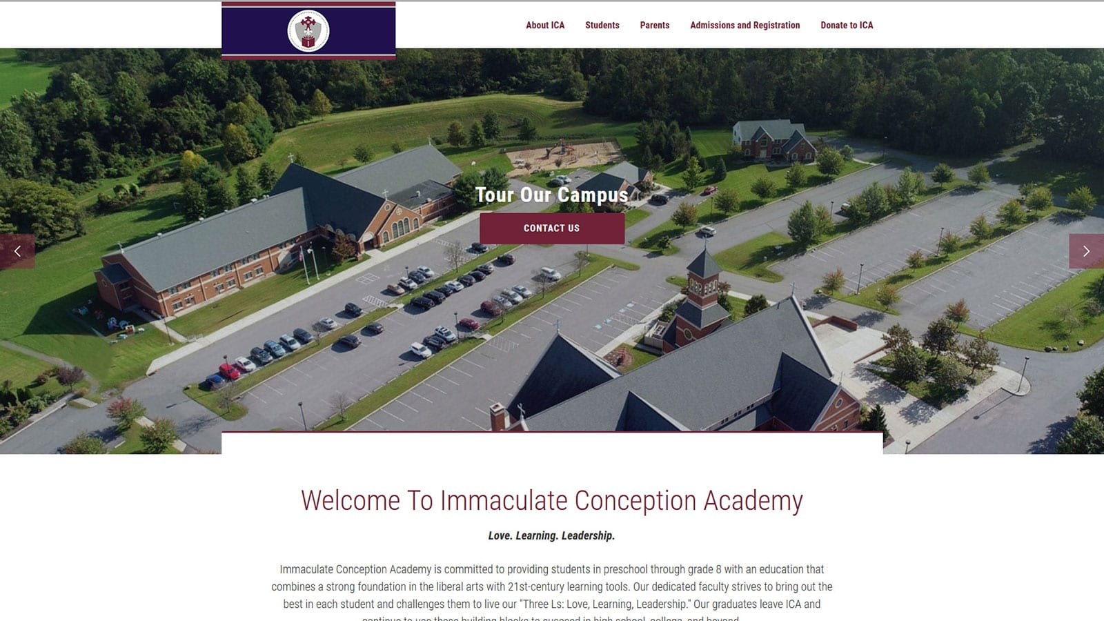 DaBrian Designs Immaculate Conception Academy's New Site!