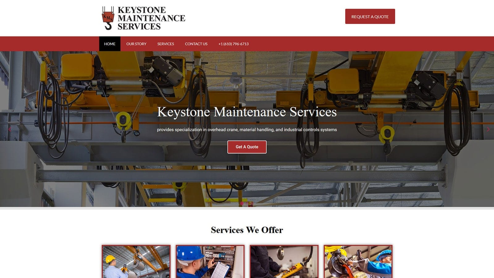 Mohnton Company Website Redesign – Keystone Maintenance Services