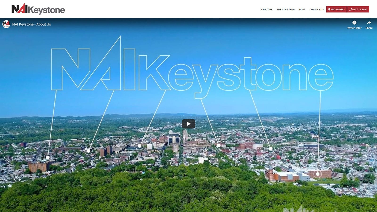 Website Redesign of NAI Keystone of Wyomissing, PA 19611