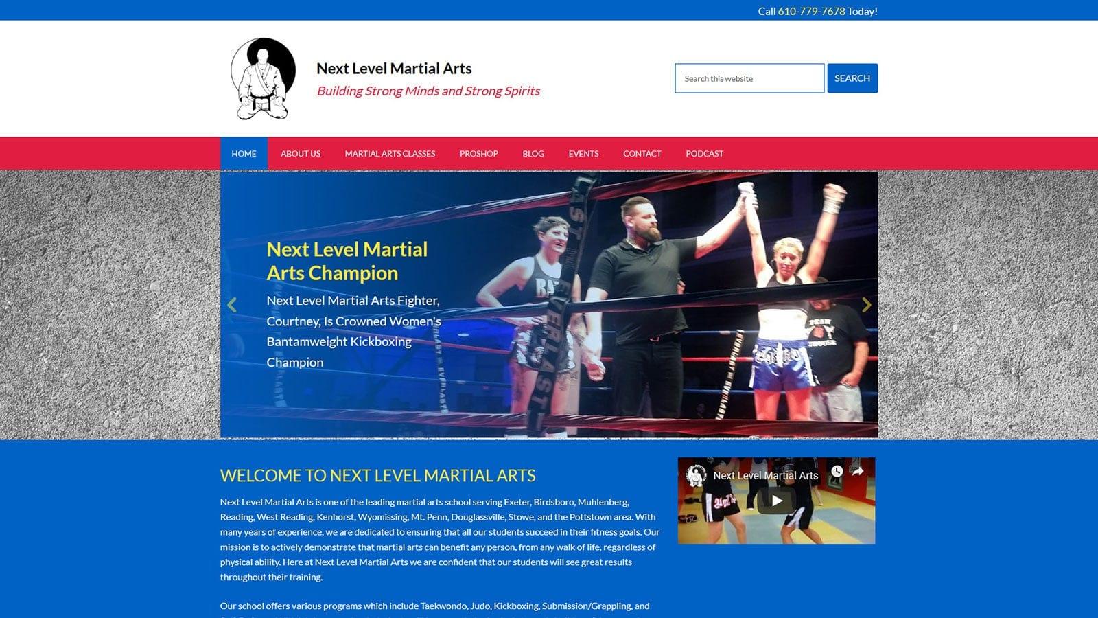 Redesign of Local Martial Arts School's Website